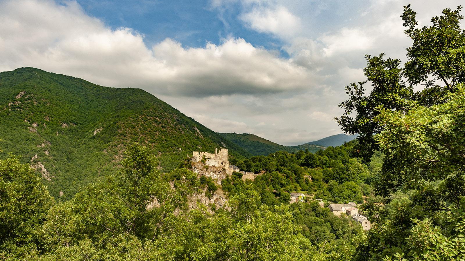 Die Burgruine von Usson. Foto: Hilke Maunder