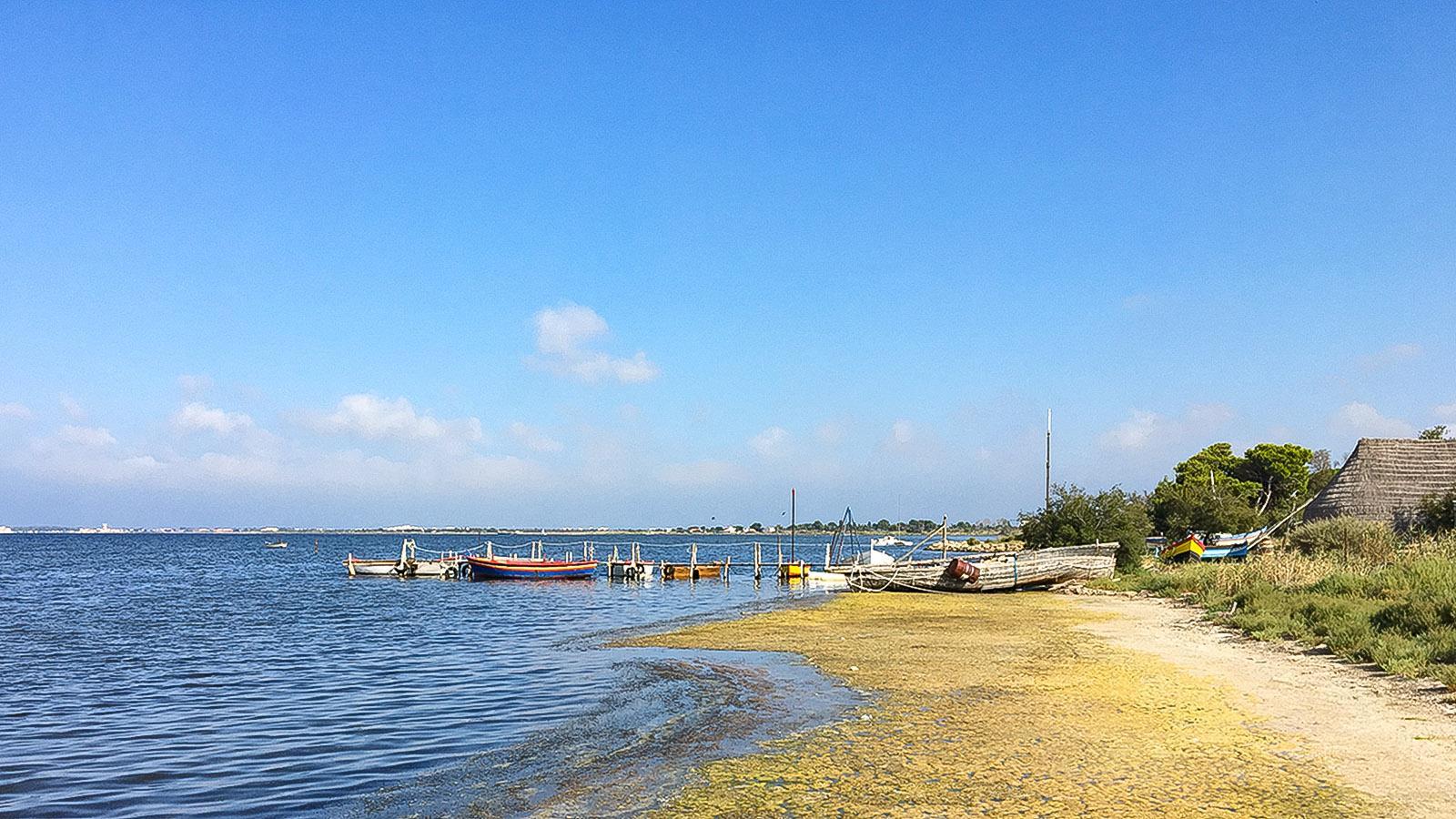 Lagune von Salses-Leucate: Das Vereinsgelände von Bonança. Foto: Hilke Maunder