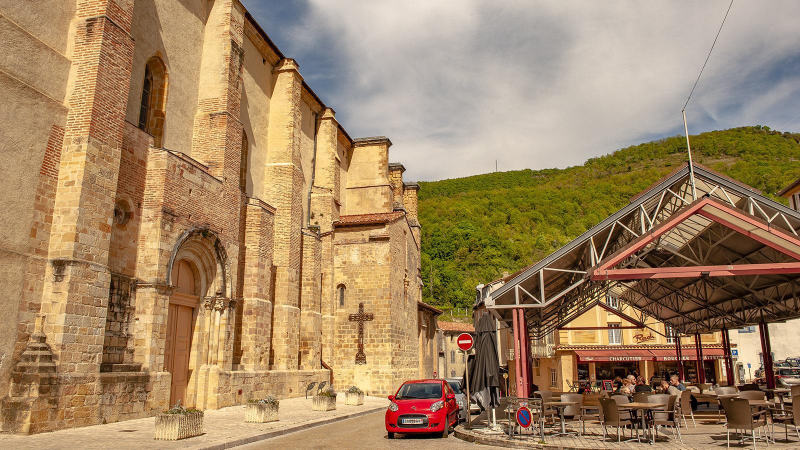 Ariége: die Markthalle von Foix. Foto: Hilke Maunder