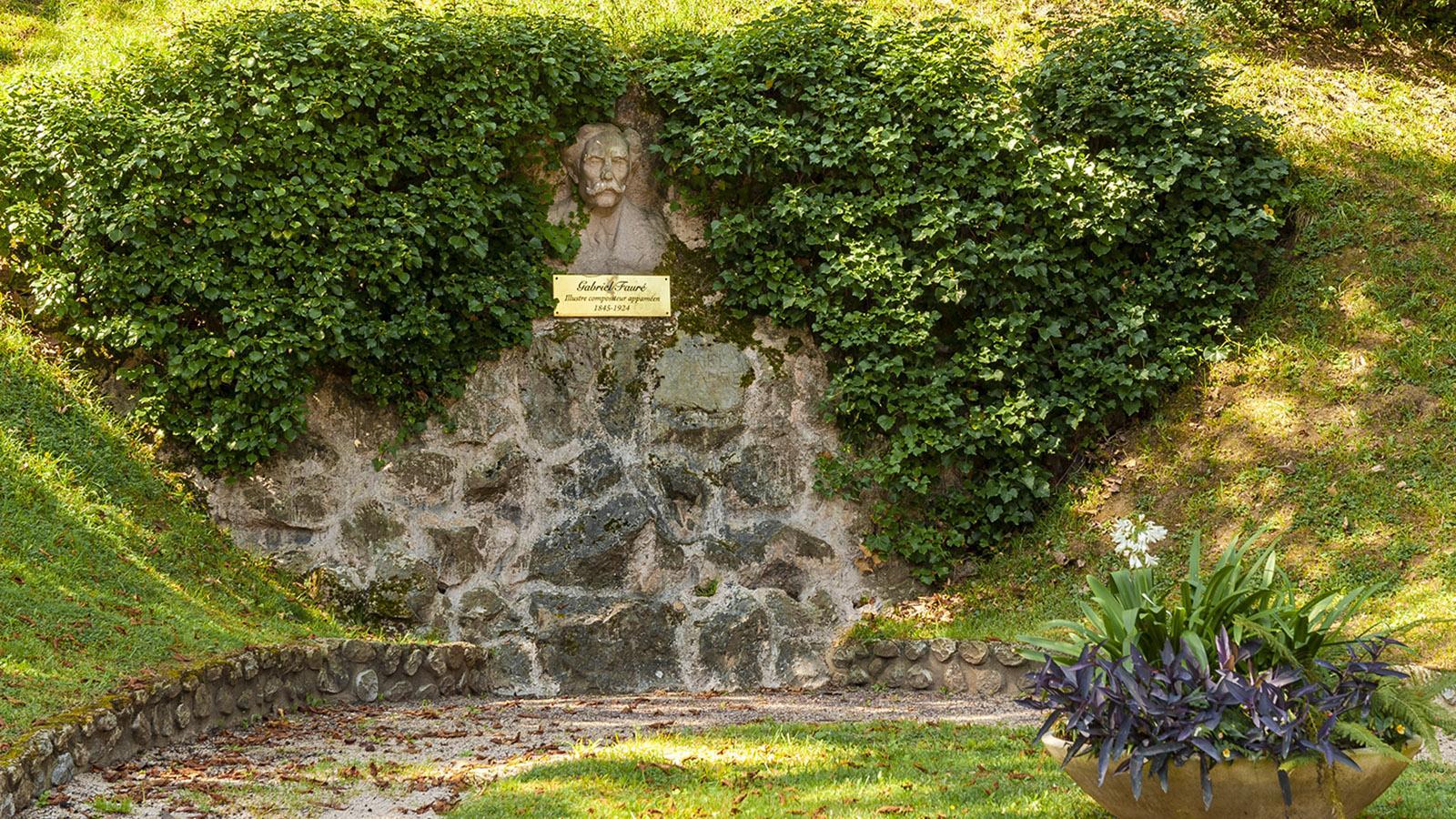 Pamiers: Denkmal für Gabriel Fauré. Foto: Hilke Maunder