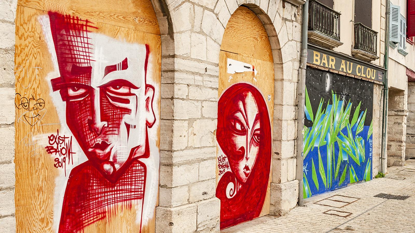 Street Art in Bayonne. Foto: Hilke Maunder