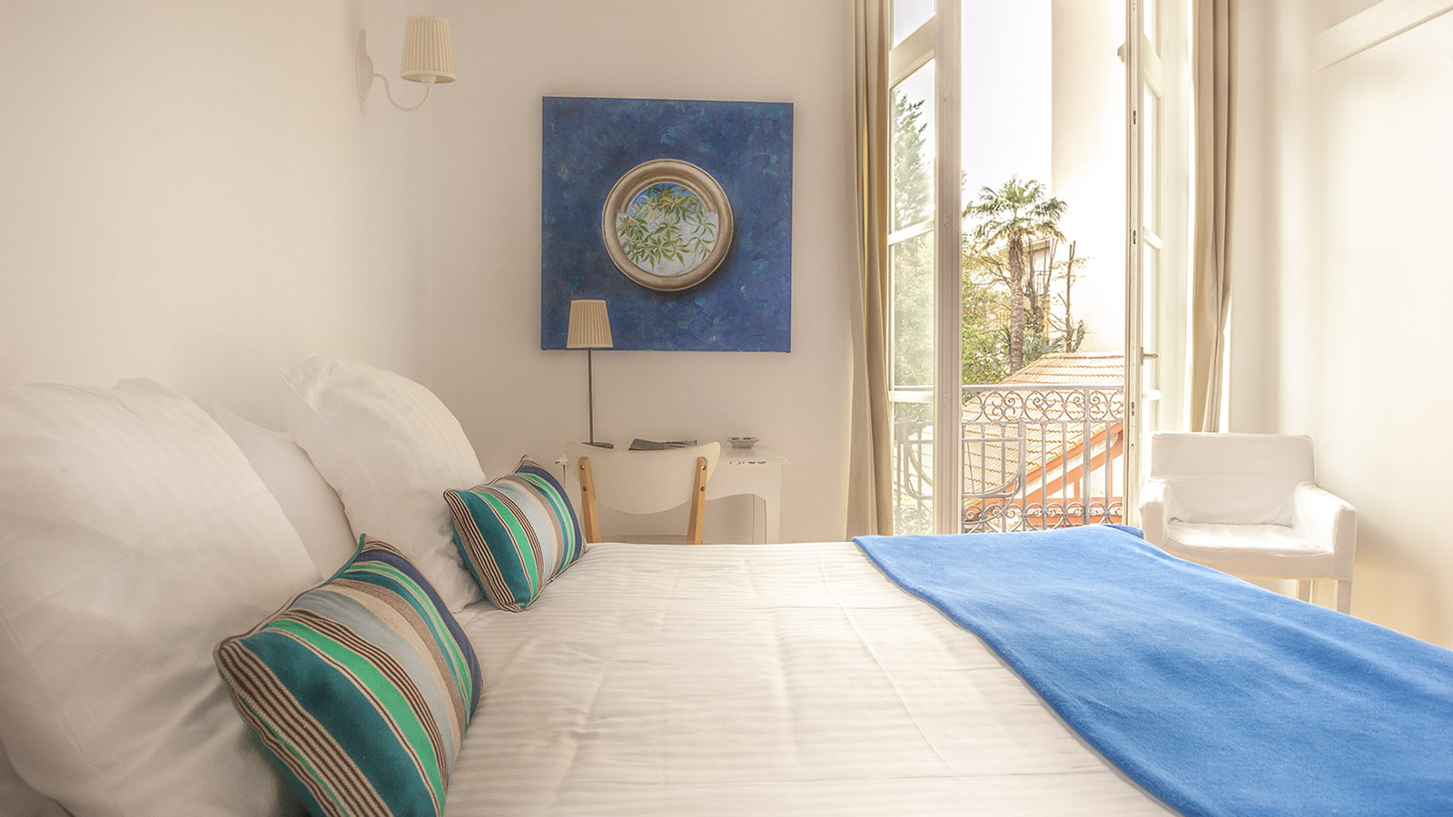 Ein Zimmer im Boutiquehotel Maison du Lierre von Biarritz. Foto: Hilke Maunder
