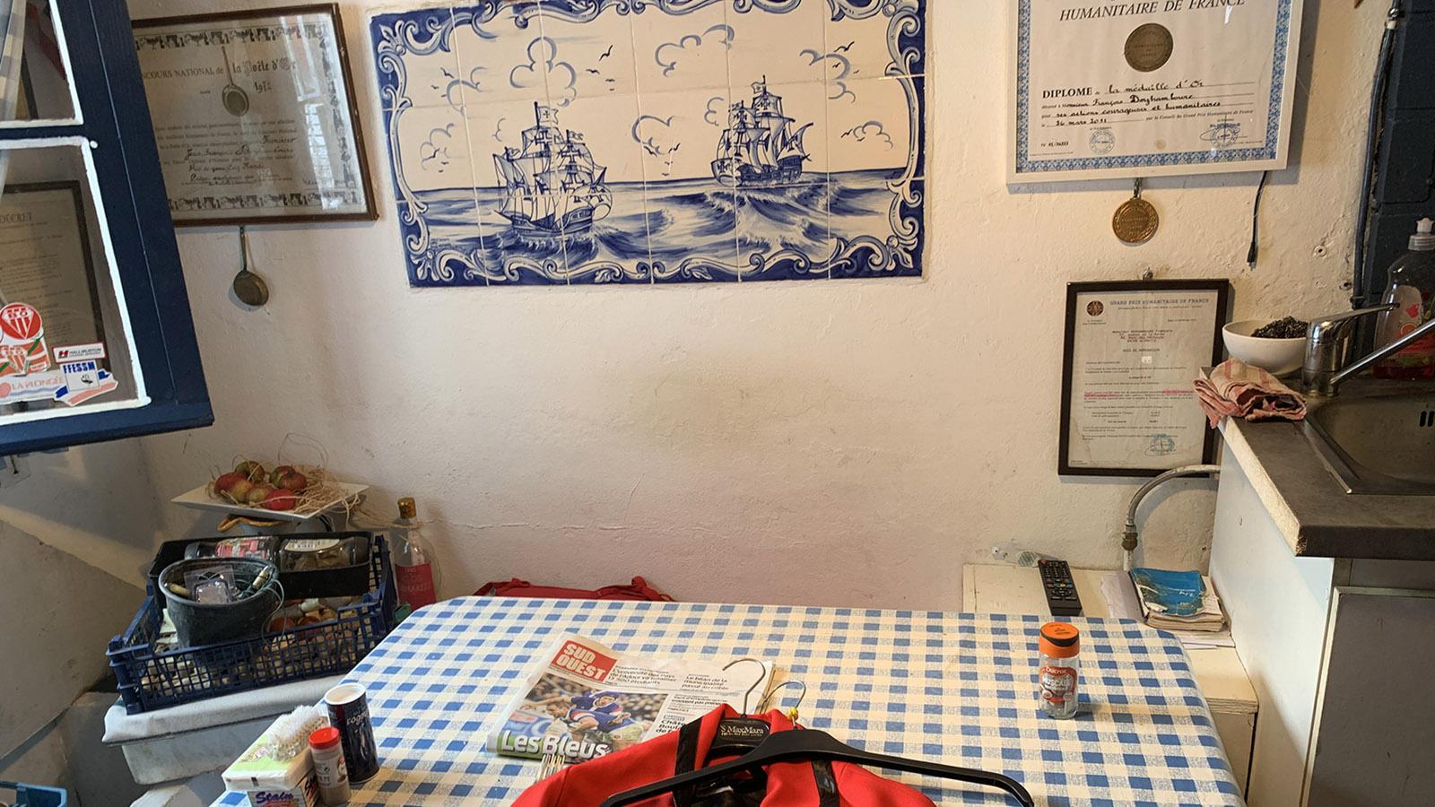 """Port-Vieux von Biarritz: iin der """"crampotte"""" von François Doyhamboure. Foto: Hilke Maunder"""