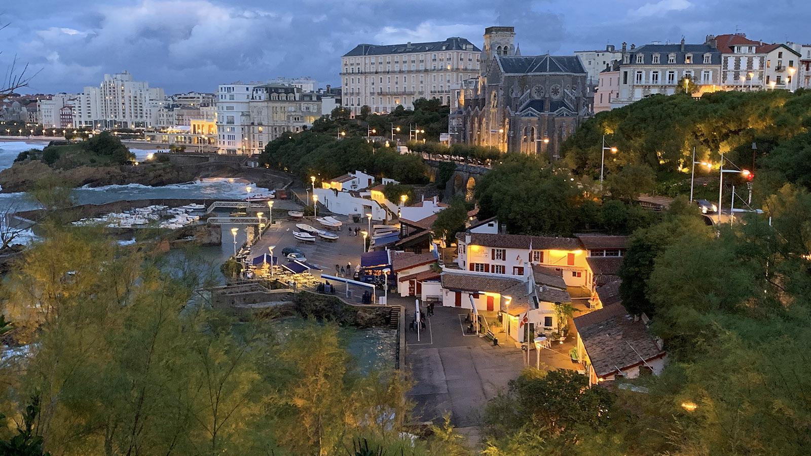 Port-Vieux von Biarritz am frühen Abend. Foto: Hilke Maunder