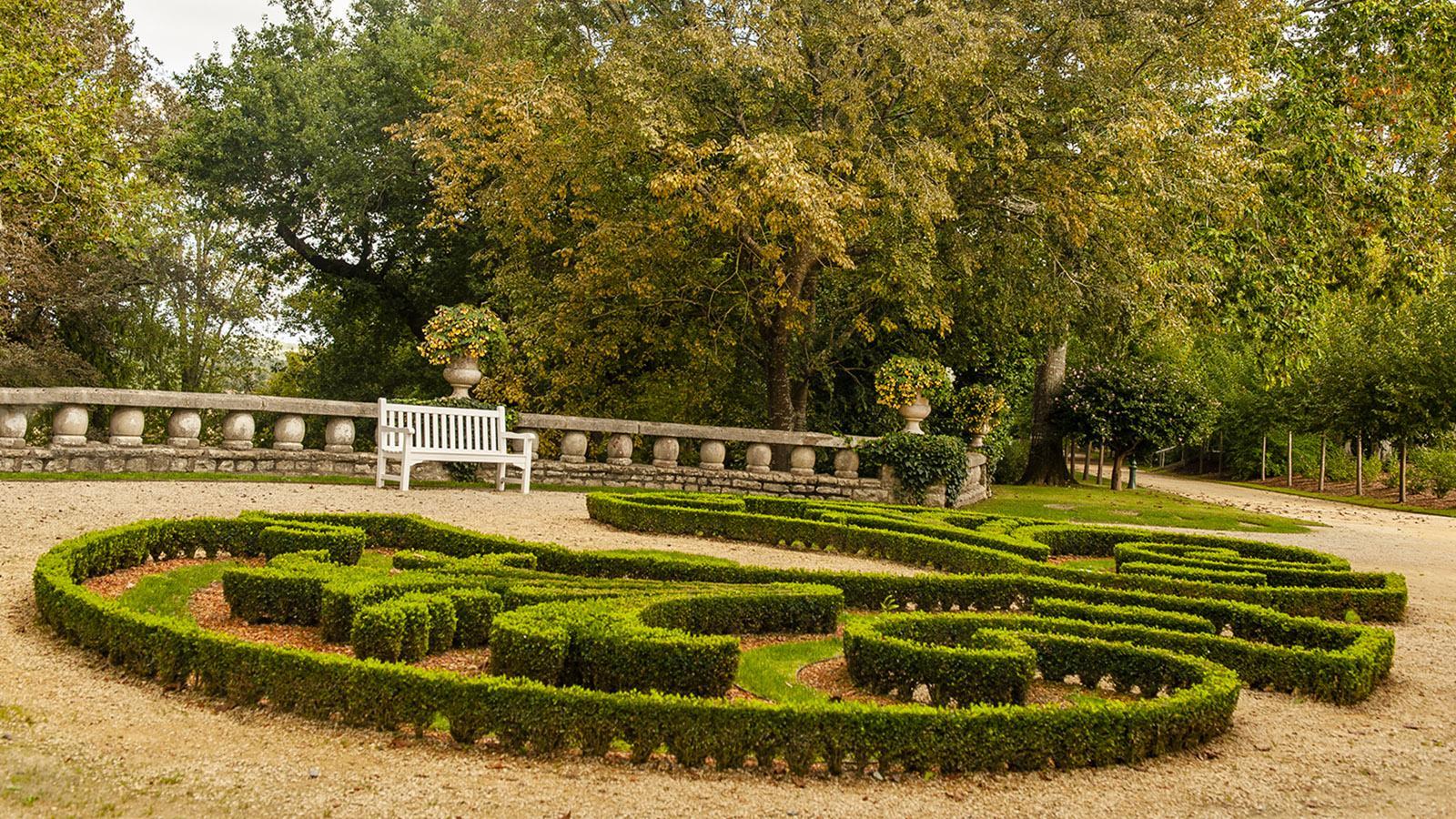 Villa Arnaga, Bucksbaumschmuck. Foto: Hilke Maunder