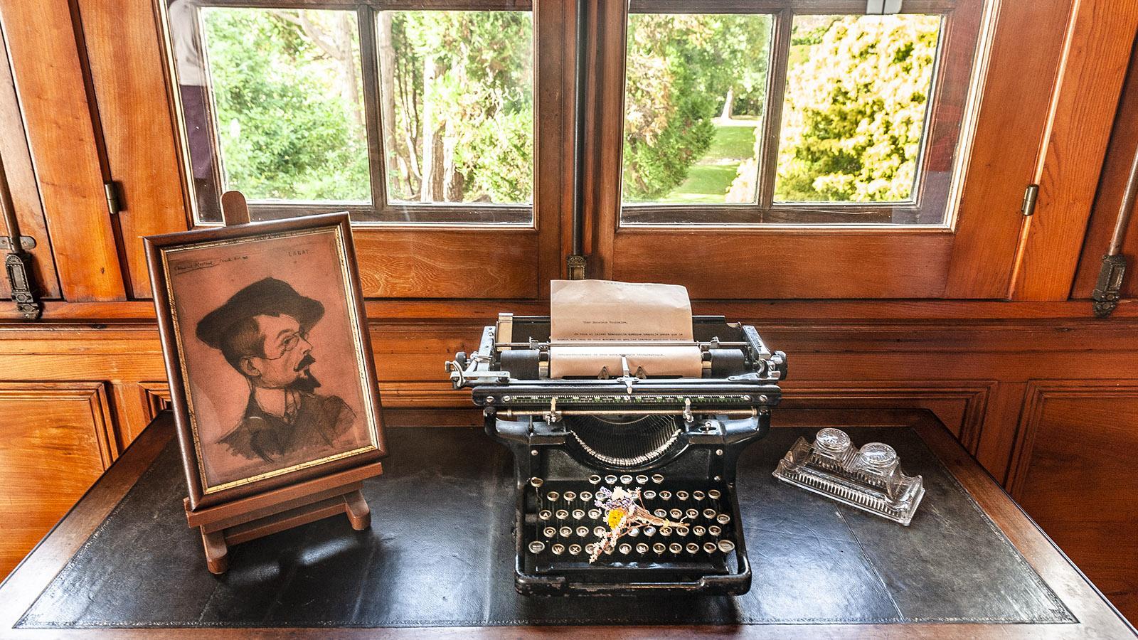 Villa Arnaga: die Schreibmaschine von Edmond Rostand. Foto: Hilke Maunder