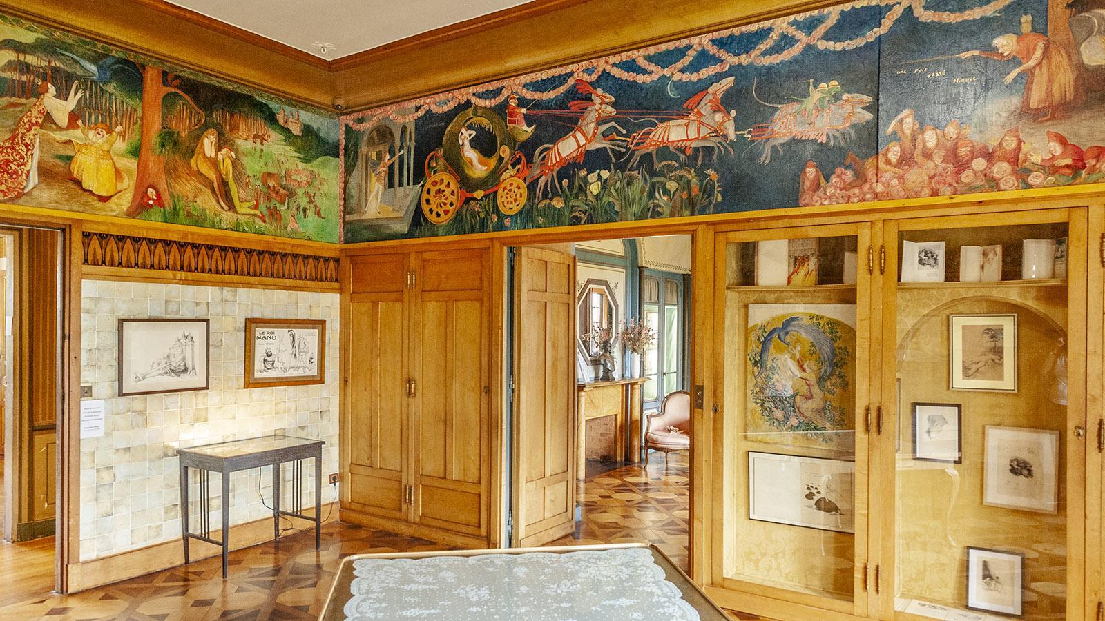Villa Arnaga: Boudoir von Rosemonde. Foto: Hilke Maunder