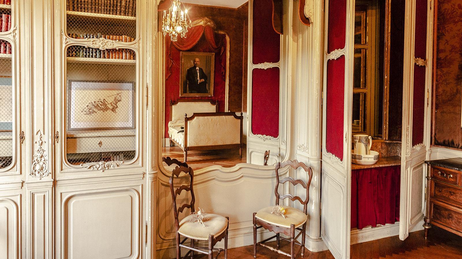 Villa Arnaga: das Gästezimmer. Foto: Hilke Maunder.