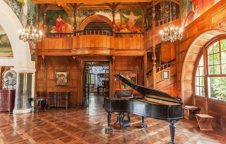 Die große Halle der Villa Arnaga. Foto: Hilke Maunder