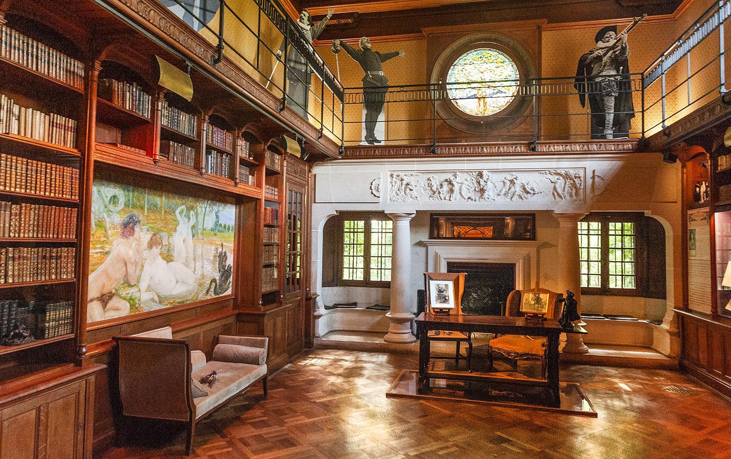 Villa Arnaga: die Bibliothek. Foto: Hike Maunder
