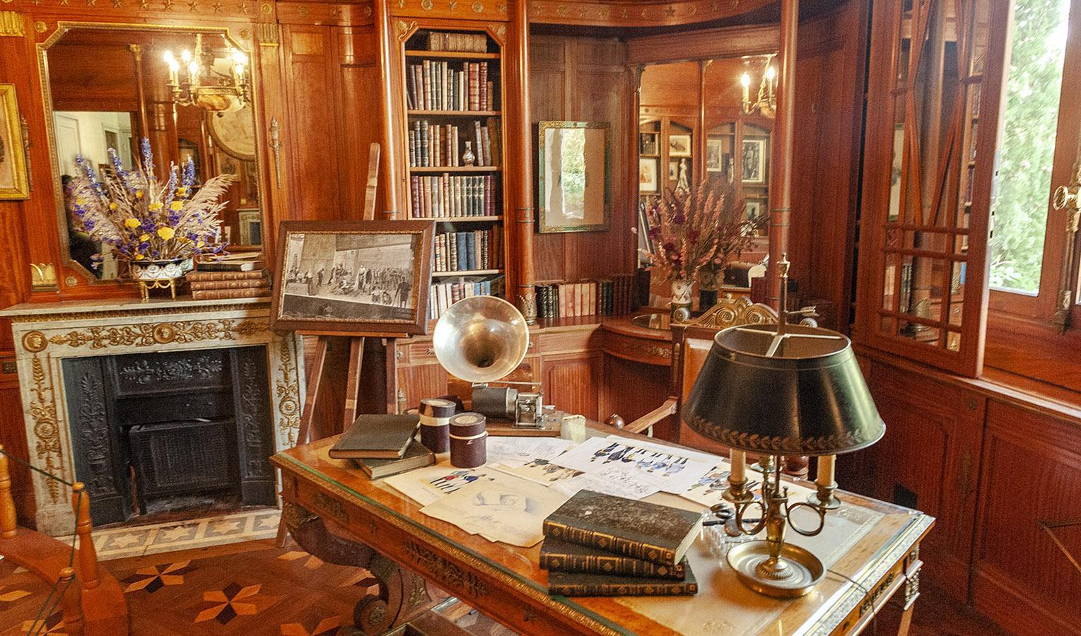 Villa Arnaga: das Büro von Edmond Rostand. Foto: Hilke Maunder