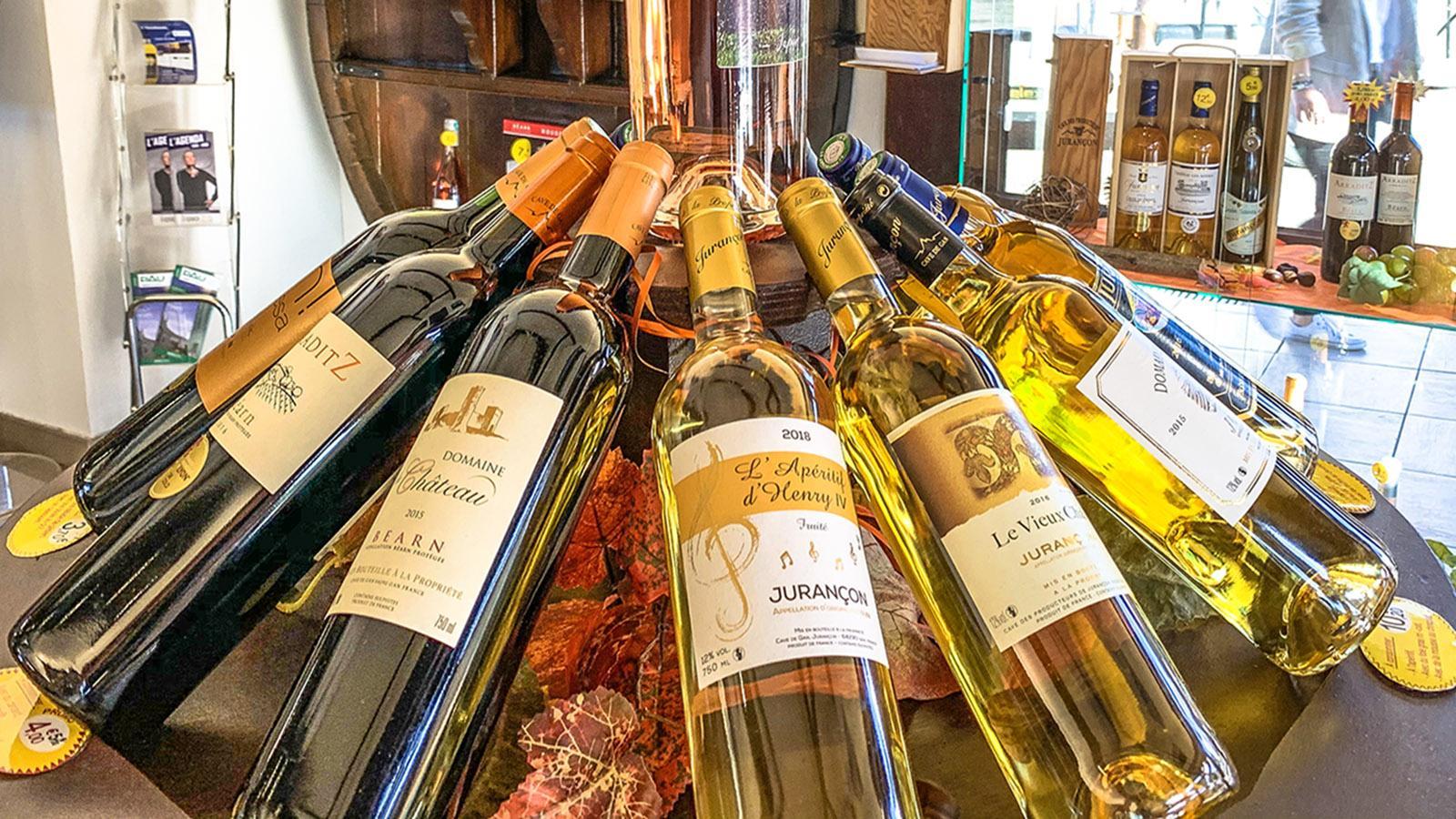 Pau: Weine aus dem Jurançon. Foto: Hilke Maunder