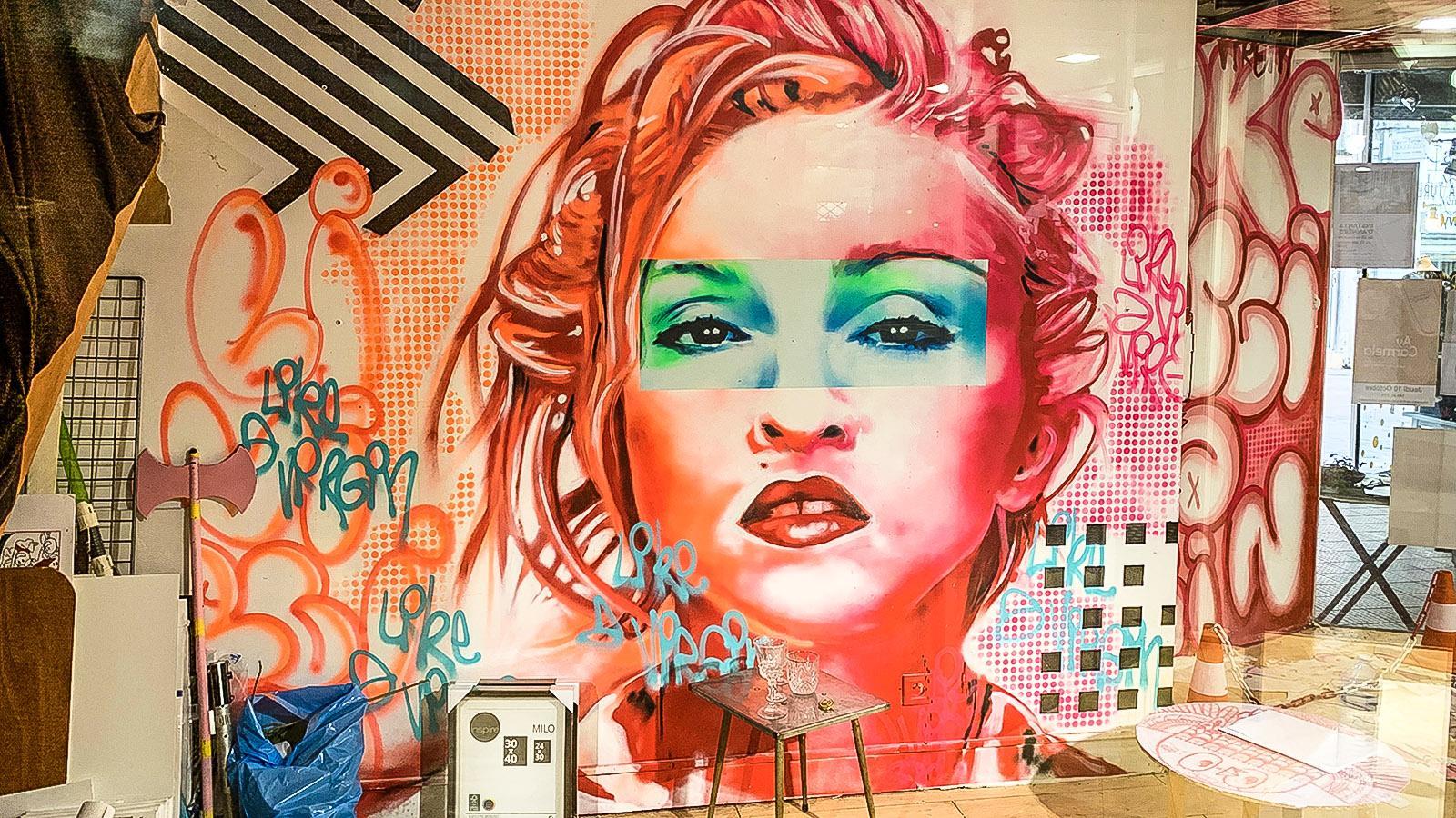 Pau: Street Art im Atelier Ambulant. Foto: Hilke Maunder