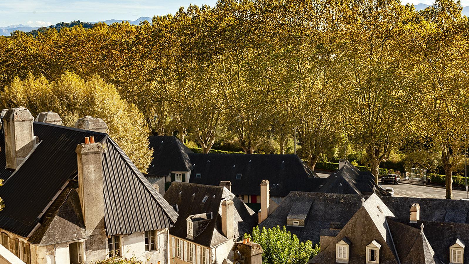 Pau: Blick vom Schlossgarten auf die Unterstadt. Foto: Hilke Maunder