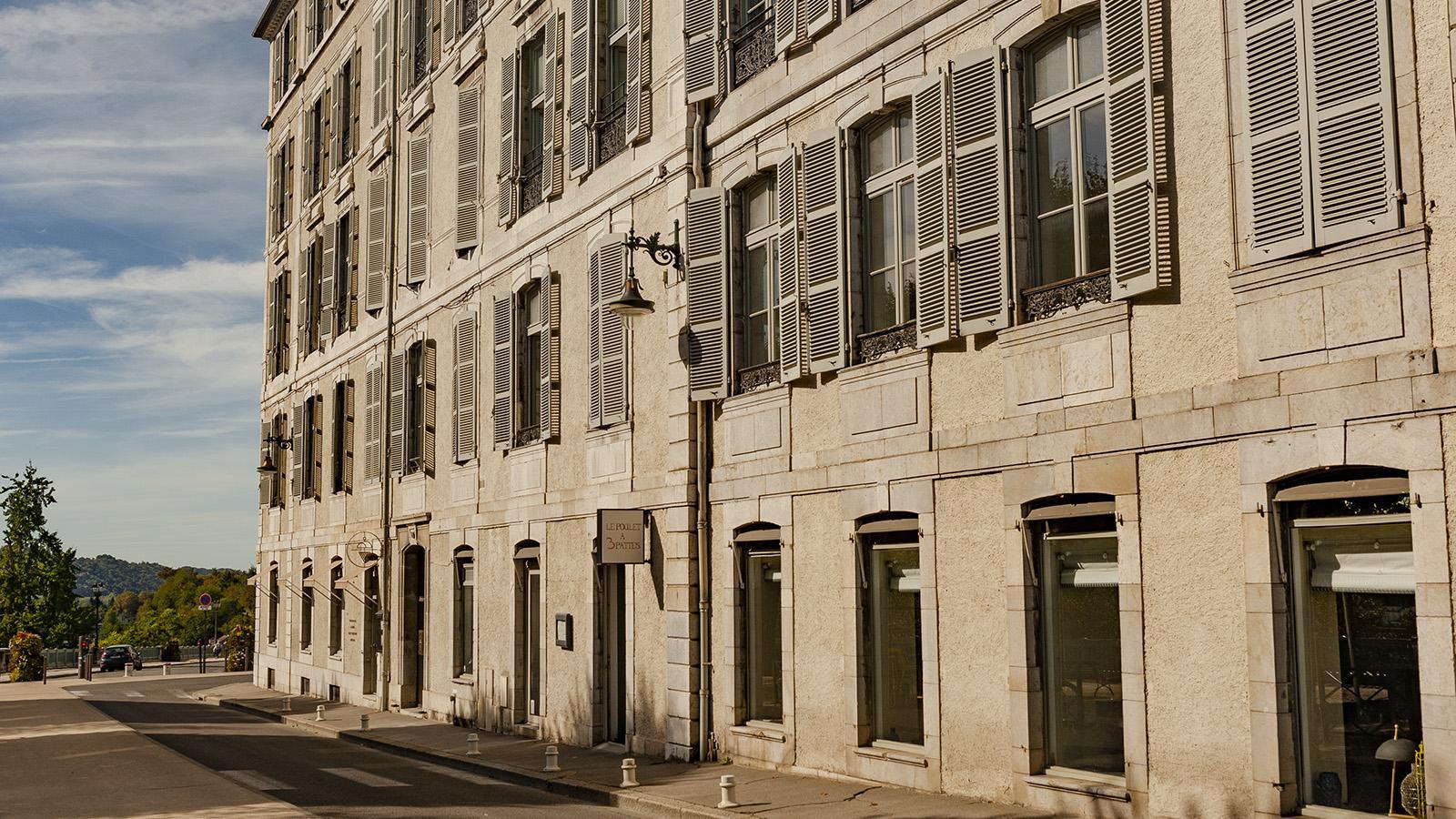 """Pau: das Restaurant """"Poulet à trois Pattes"""" am Boulevard der Pyrenäen. Foto: Hilke Maunder"""