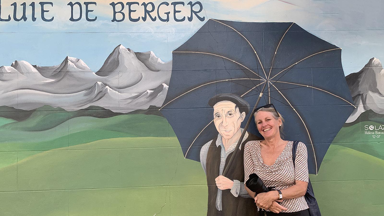 Pau: Wandbild mit Schäferschirm. Foto: Hilke Maunder