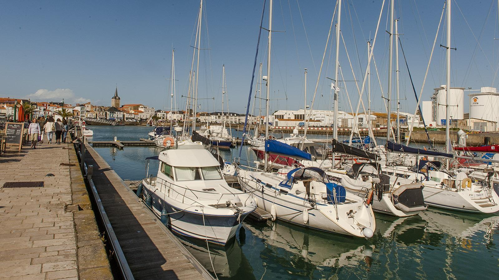 Der Hafen von Les Sables d'Olonne. Foto: Hilke Maunder