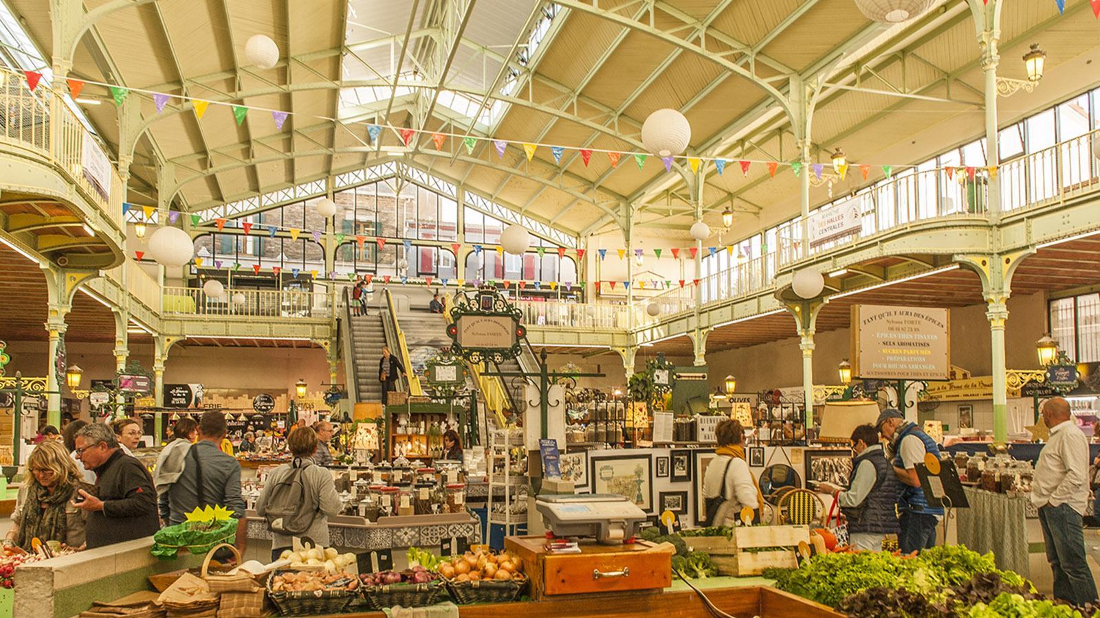 Les Sables d'Olonne: die Markthalle. Foto: Hilke Maunder