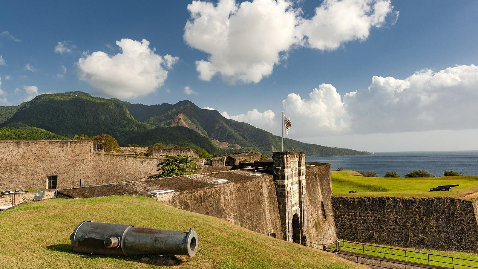 Guadeloupe: schützte einst die Hauptstadt - das Fort Delgrès. Foto: Hilke Maunder