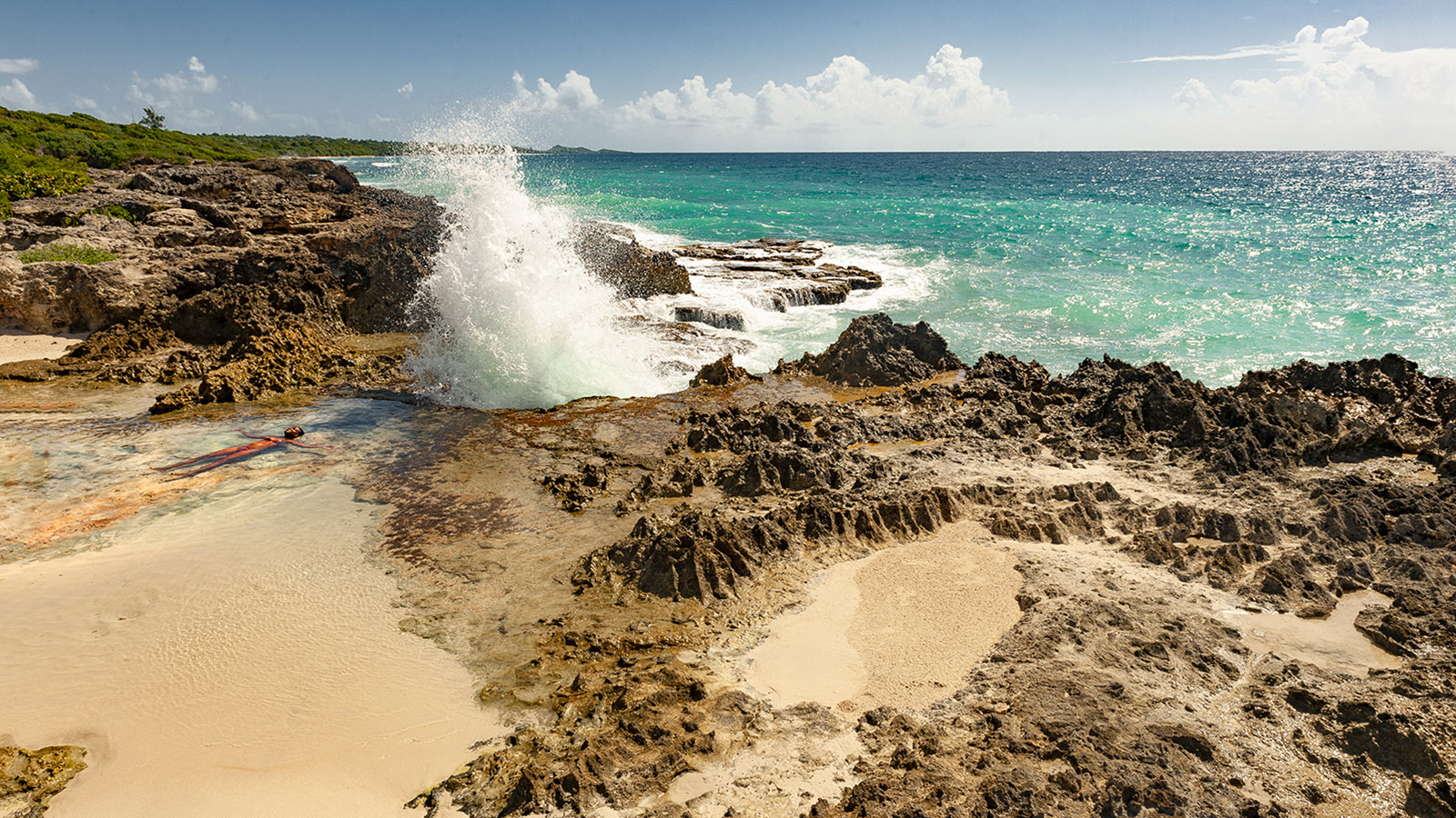 Guadeloupe: La Douche. Foto: Hilke Maunder