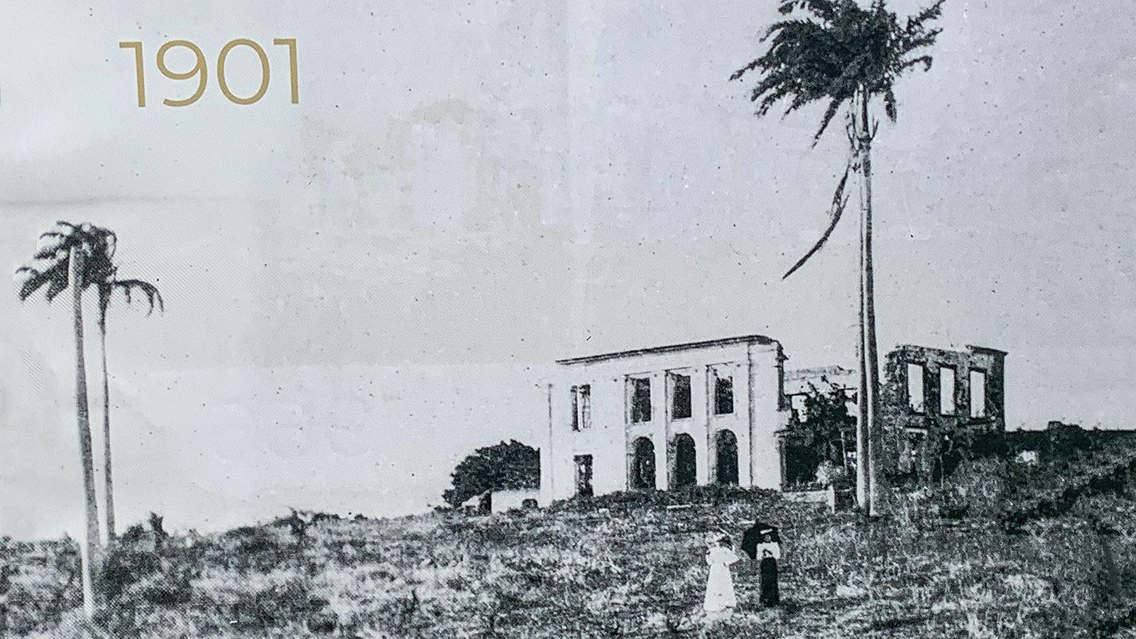 Marie-Gallante: die Habitation Murat 1901. Foto: Hilke Maunder