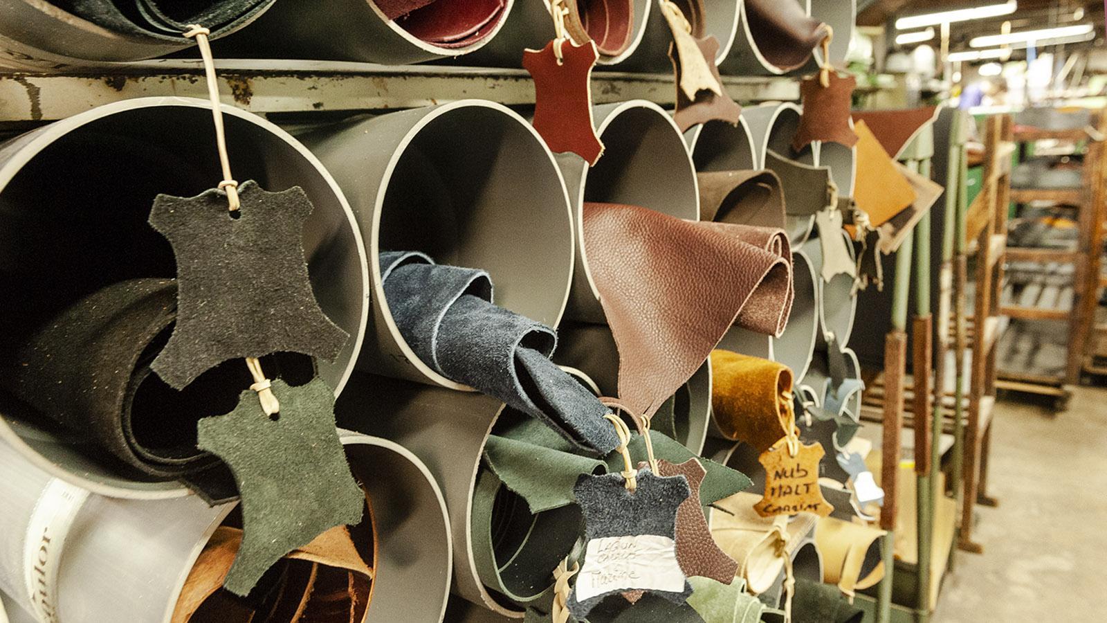 Le Soulor: Auch das Leder kommt aus Frankreich. Foto: Hilke Maunder
