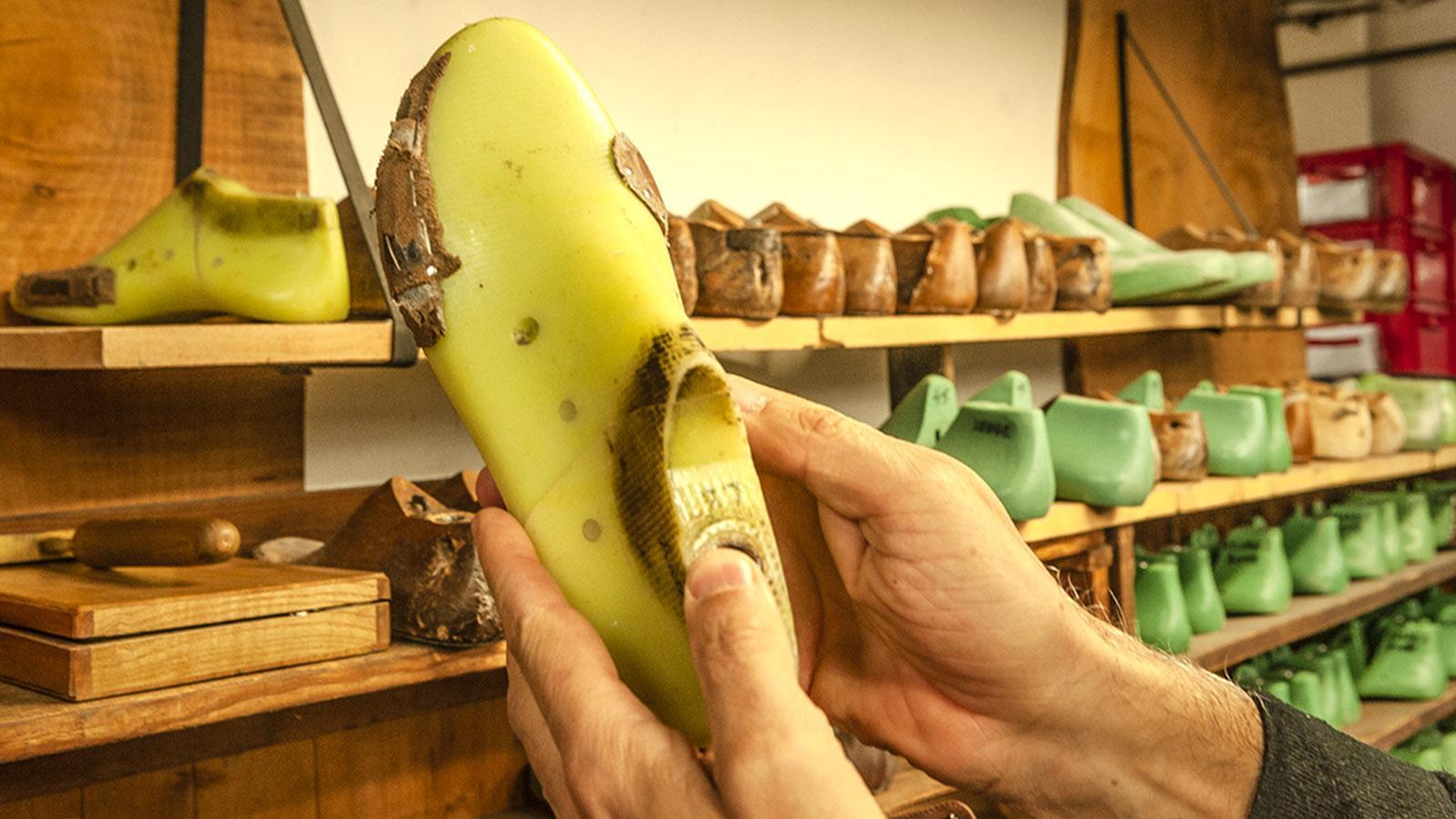 Le Soulor: Der Leisten wird nach Kundenwünschen modifiziert. Foto: Hilke Maunder