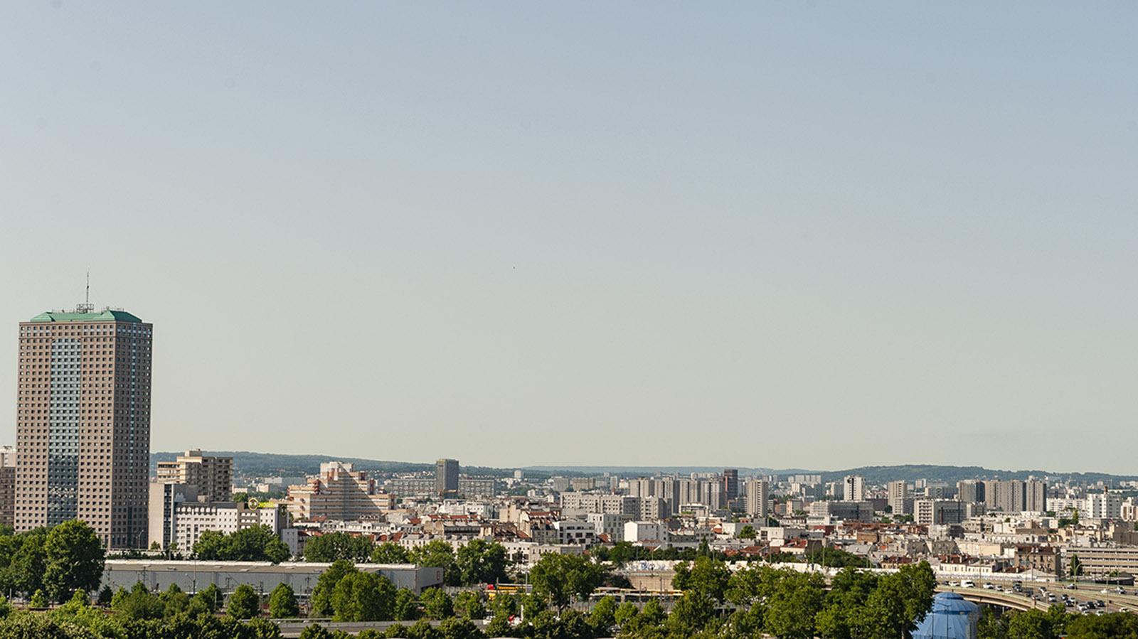 Banlieue de Paris. Blick von der Pariser Philharmonie auf Aubervilliers. Foto: Hilke Maunder