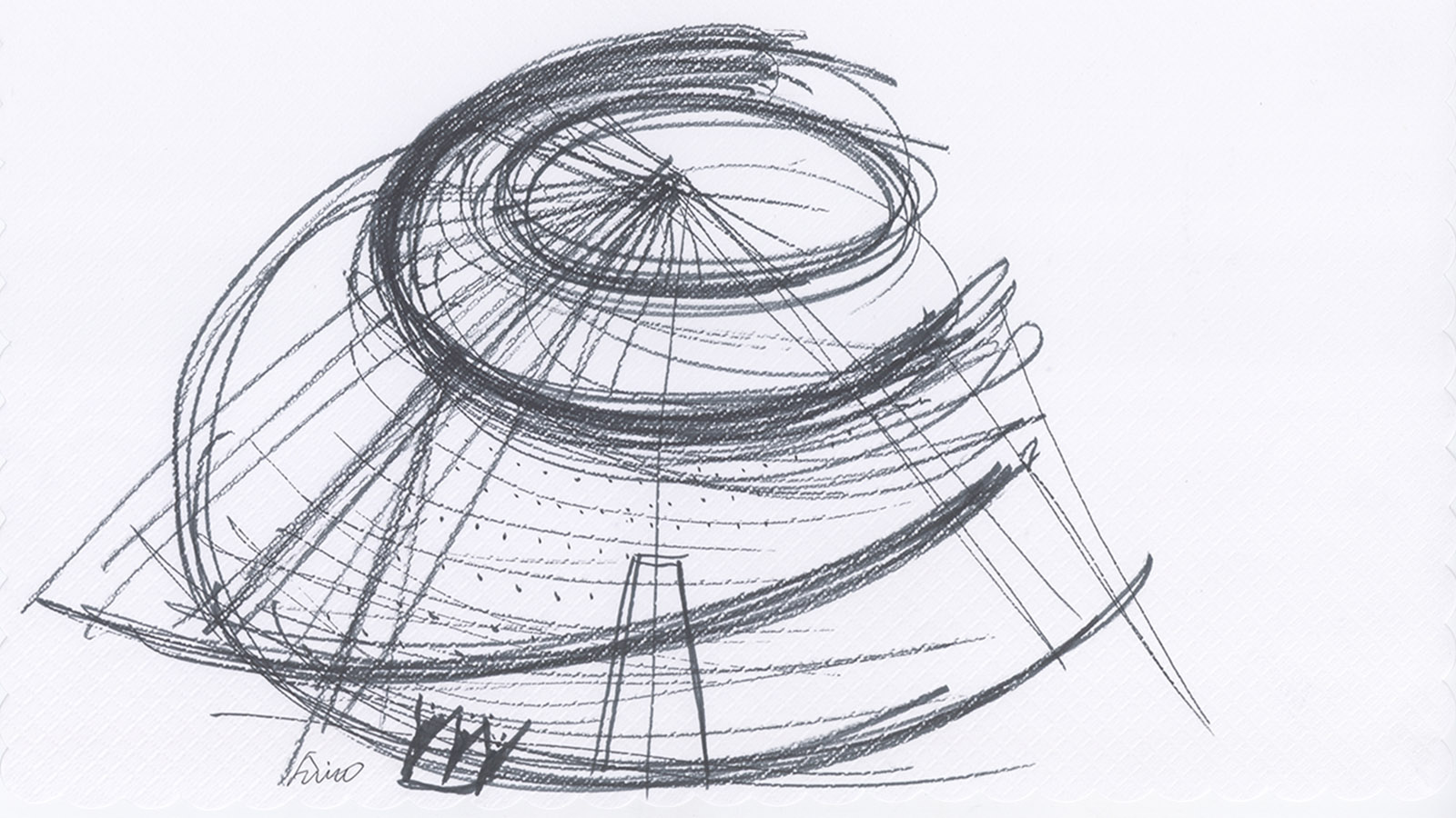 Sketch von Tadao Ando. ©Tadao Ando. Courtesy Collection Pinault – Paris.