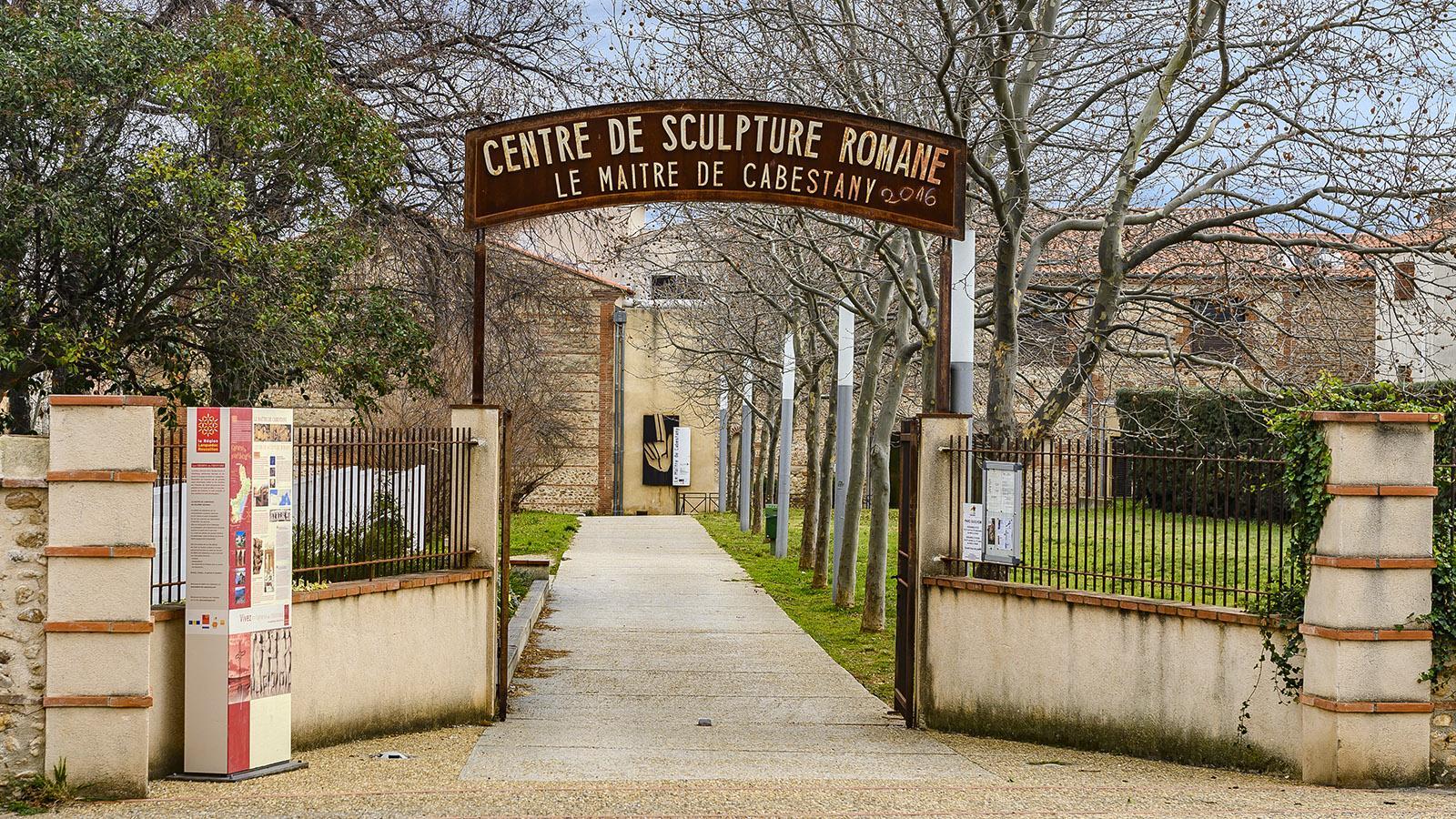 Cabestany: Im Park Guilhem liegt der Eingang zum Museum. Foto: Hilke Maunder