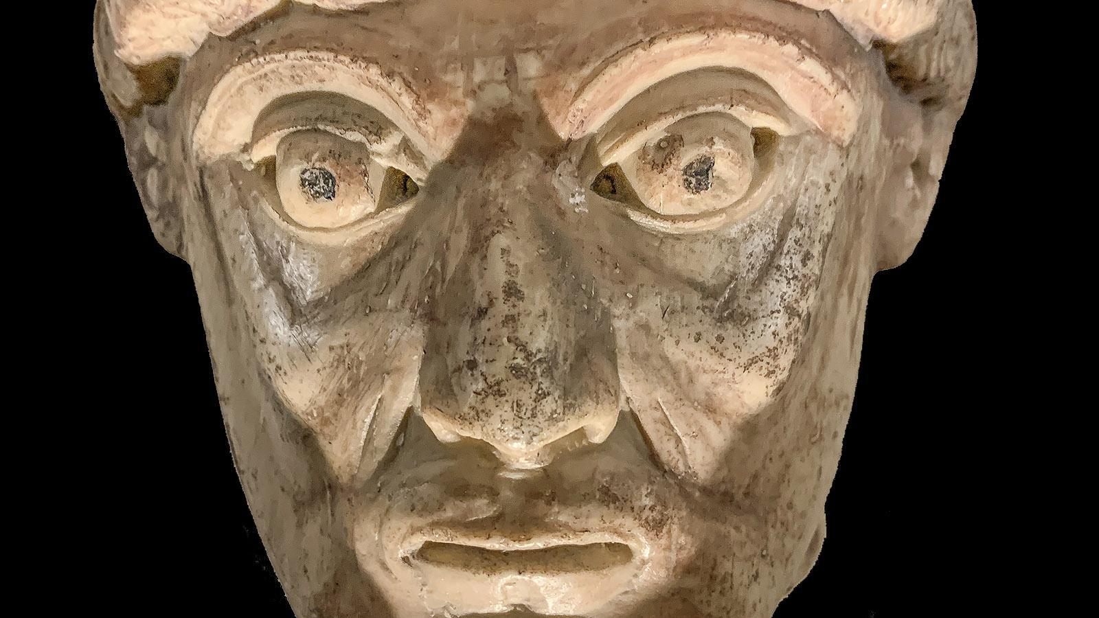 Maître de Cabestany: Der Kopf verrät. Früher waren die Skulpturen farbig bemalt. Foto: Hilke Maunder