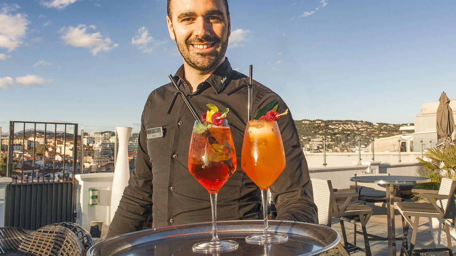 Cannes: Apero auf dem Dach des Radisson-Hotels. Foto: Hilke Maunder