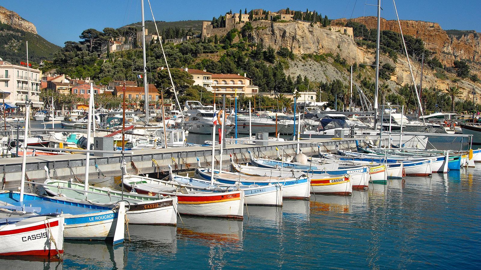 Pointus im Hafen von Cassis. Foto: Hilke Maunder