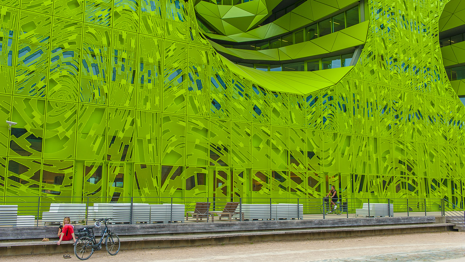 Municipales: Cube Verte auf der Halbinsel Confluence. Foto: Hilke Maunder
