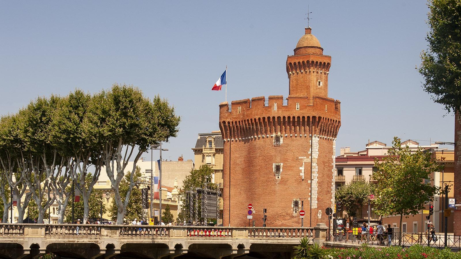 Castillet - das kleine Schlösschen von Perpignan. Foto: Hilke Maunder