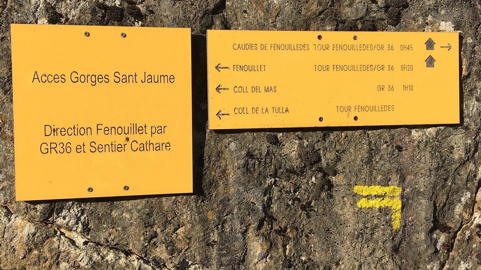 Gorges de Saint-Jaume: Wandermarkierung