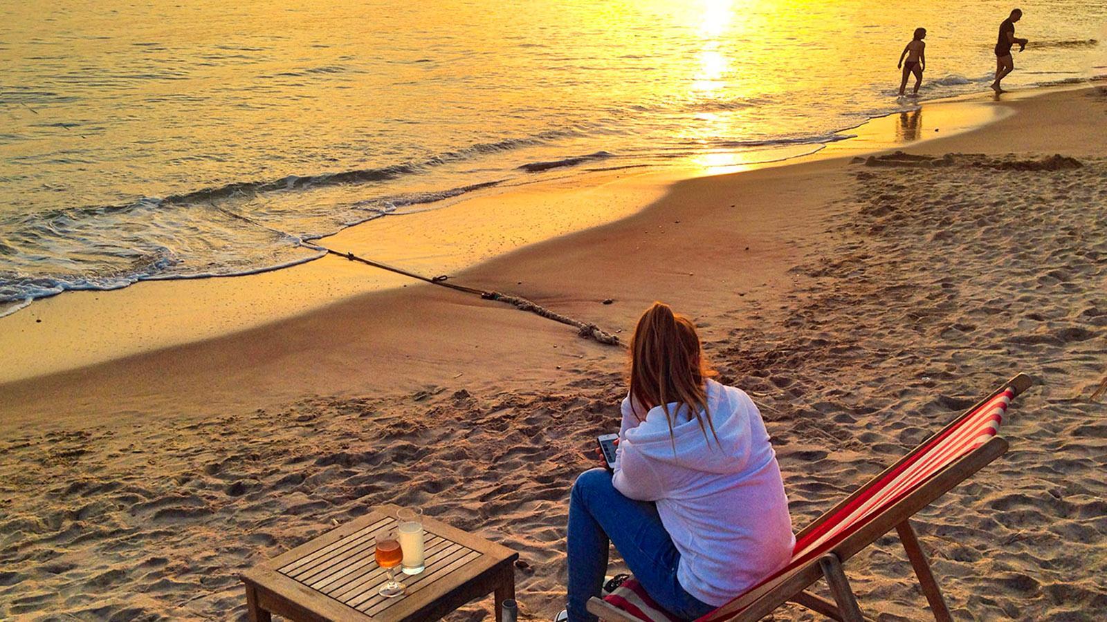 Am Strand bei Saint-Tropez. Foto: Hilke Maunder