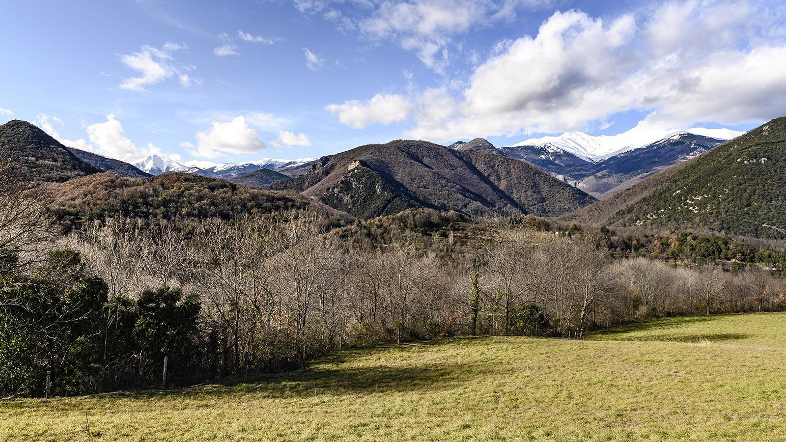 Serralongue: Ausblicke auf den Canigou (r.) und die spanischen Pyrenäen. Foto: Hilke Maunder