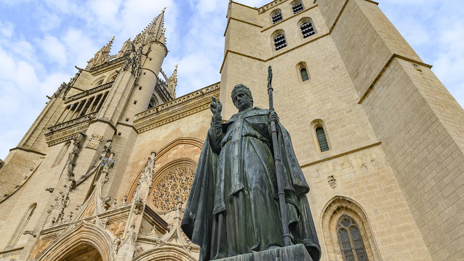 Papst Urban V. gründete die Kathedrale von Mende. Foto. Hilke Maunder