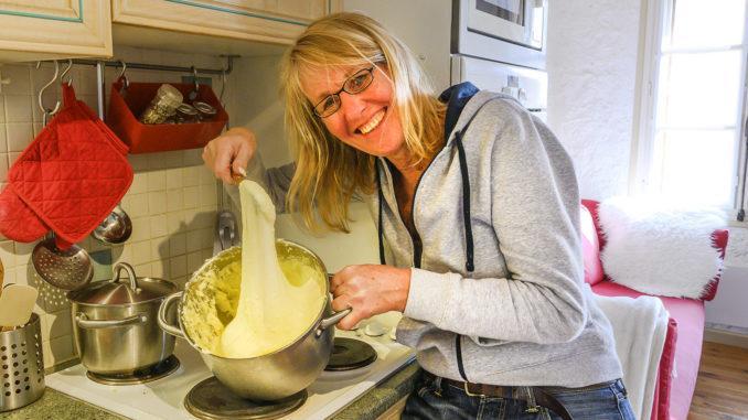 L'Aligot: Kartoffelbrei mit Käse und Knoblauch