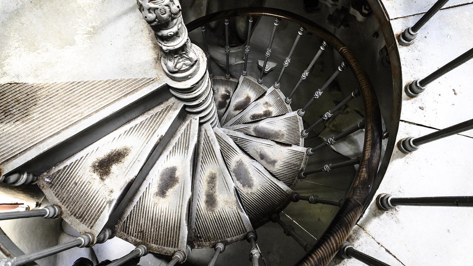 Die Wendeltreppe der Dame de France von Le Puy-en-Velay. Foto: Hilke Maunder