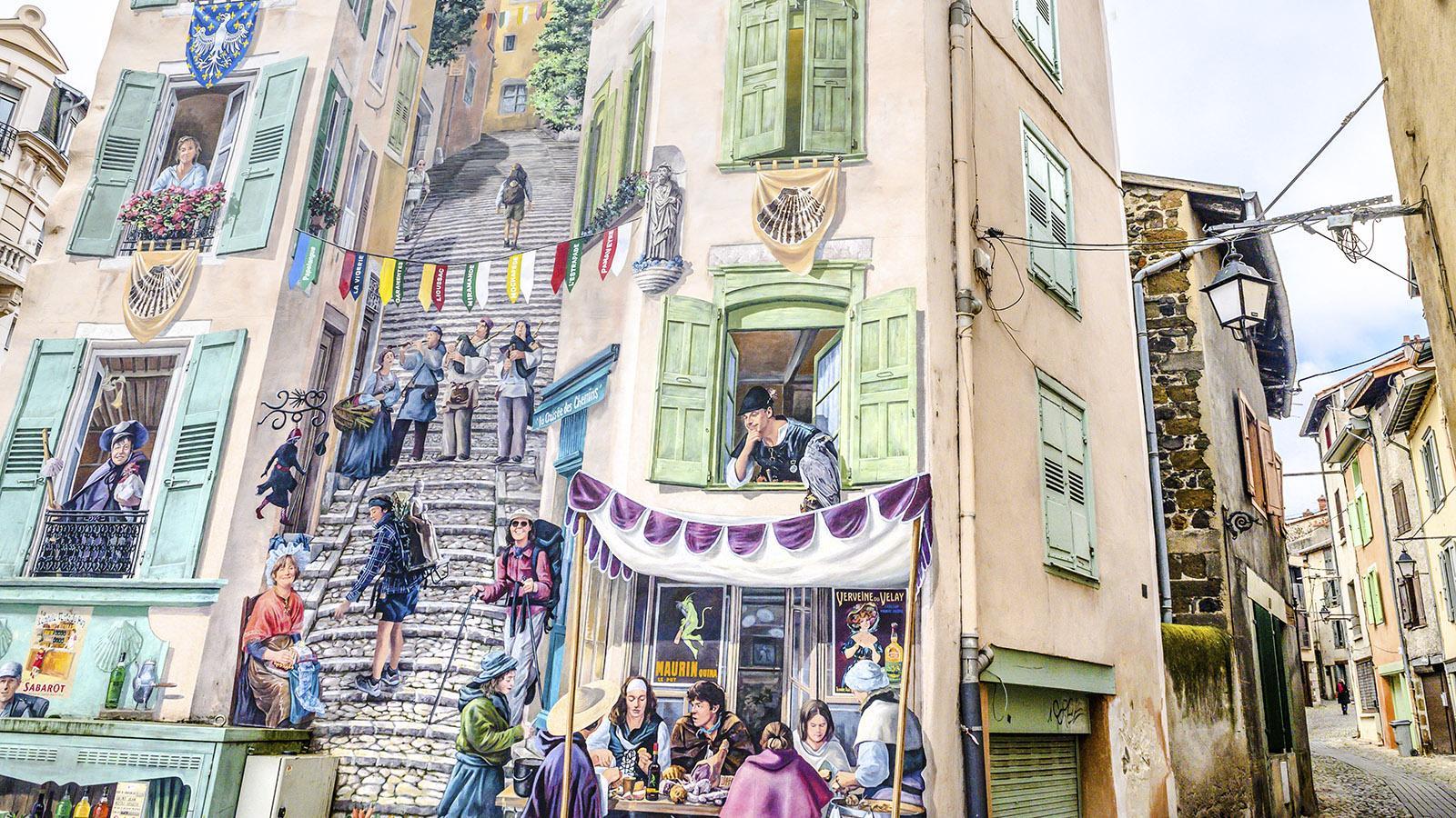 """Das Wandbild """"Renaissance"""" von Le Puy-en-Velay. Foto: Hilke Maunder"""