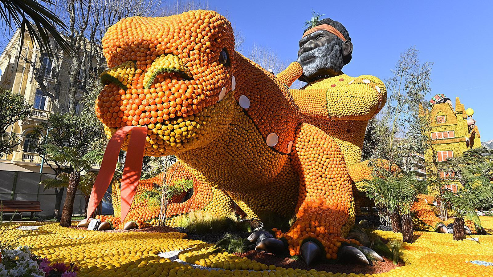 Fête du Citron: die Figur zu Australien.Foto: Hilke Maunder