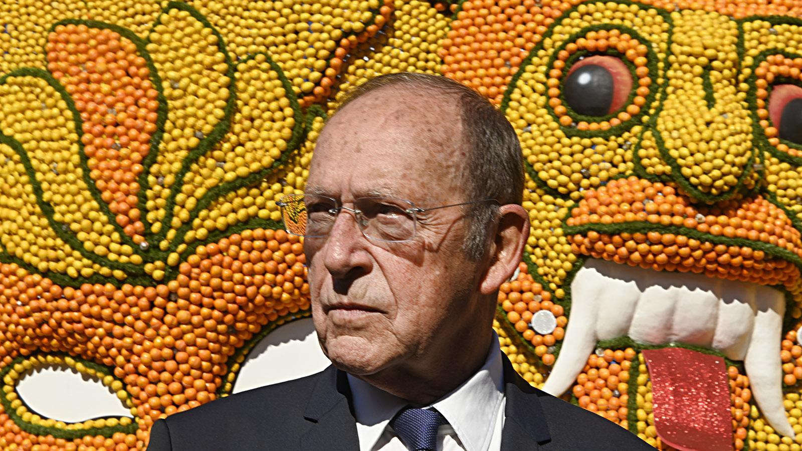 Fête du Citron: Jean-Claude Guibal, Bürgermeister von Menton. Foto: Hilke Maunder