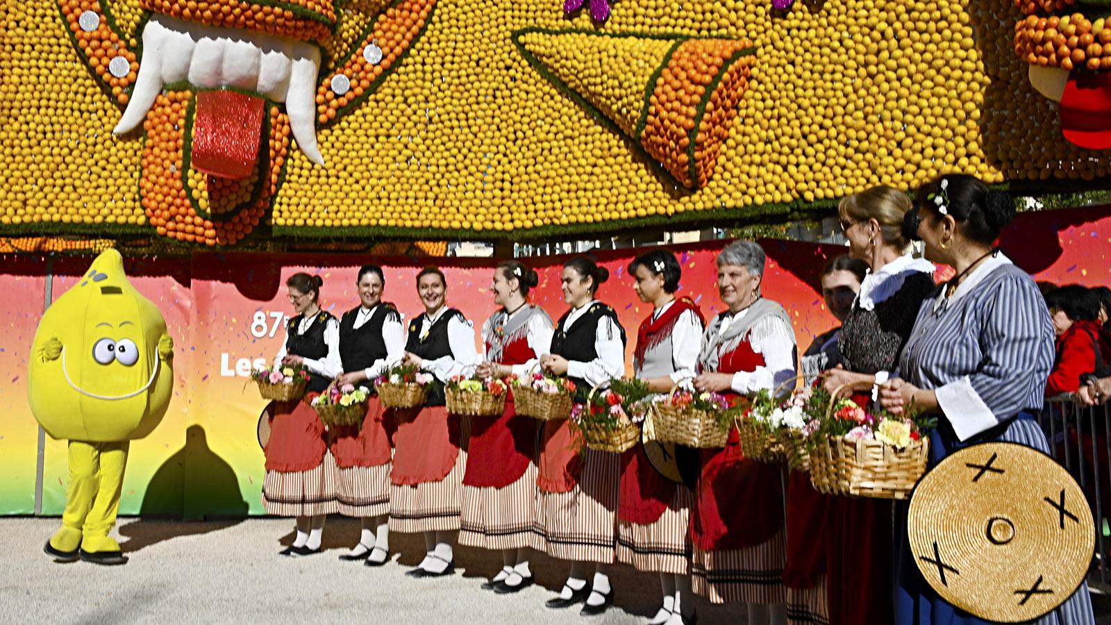 Fête du Citron: John Lemon ist das Maskottchen des Festes. Foto: Hilke Maunder