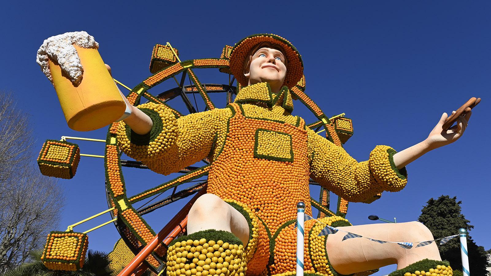 Fête du Citron: das Oktoberfest ganz zitronig. Foto: Hilke Maunder