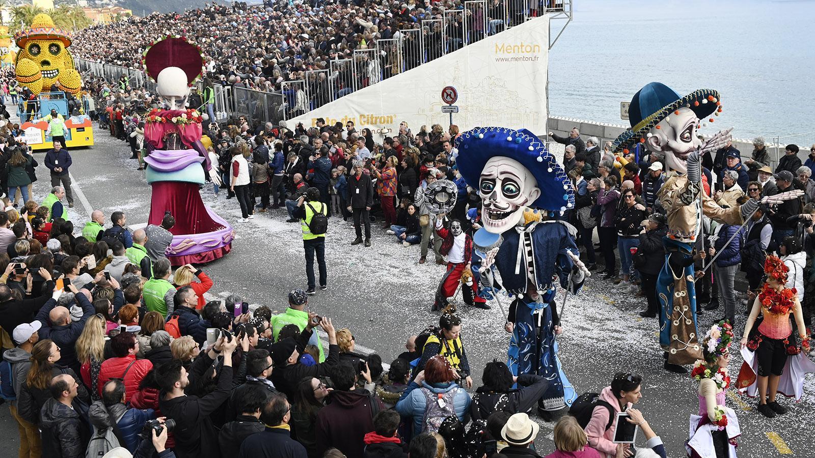 Fête du Citron: Mexiko zeigt seine Toten. Foto: Hilke Maunder