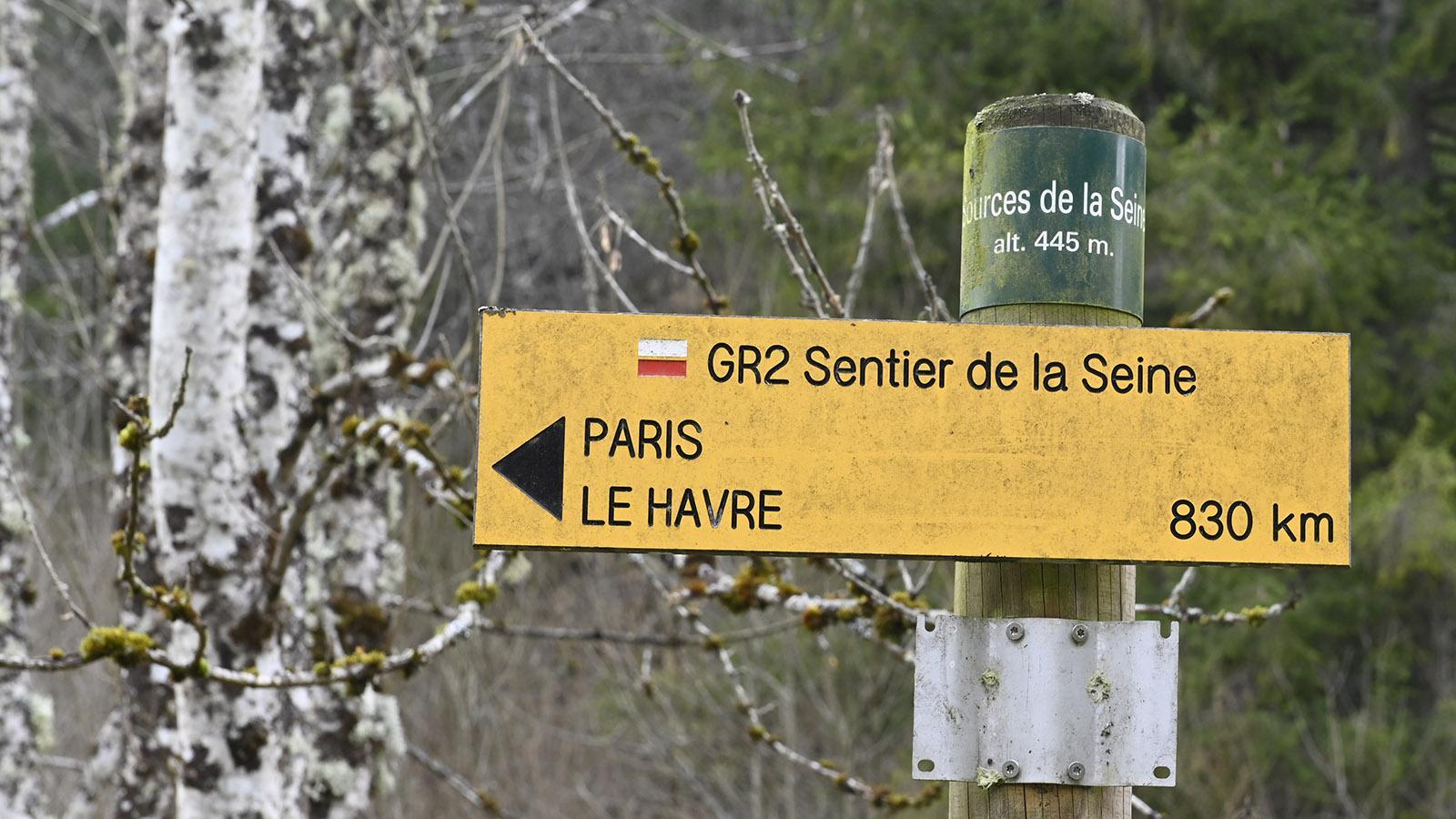 Seine-Quellen: Von der Quelle bis zur Mündung bei Le Havre könnt ihr dem Lauf der Seine auf Wanderwegen folgen. Foto: Hilke Maunder