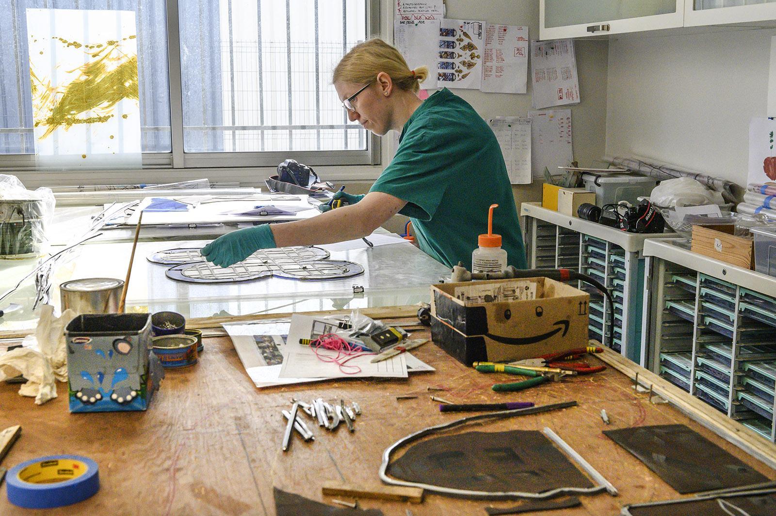 In der Werkstatt von Flavie Vincent-Petit. Foto: Hilke Maunder
