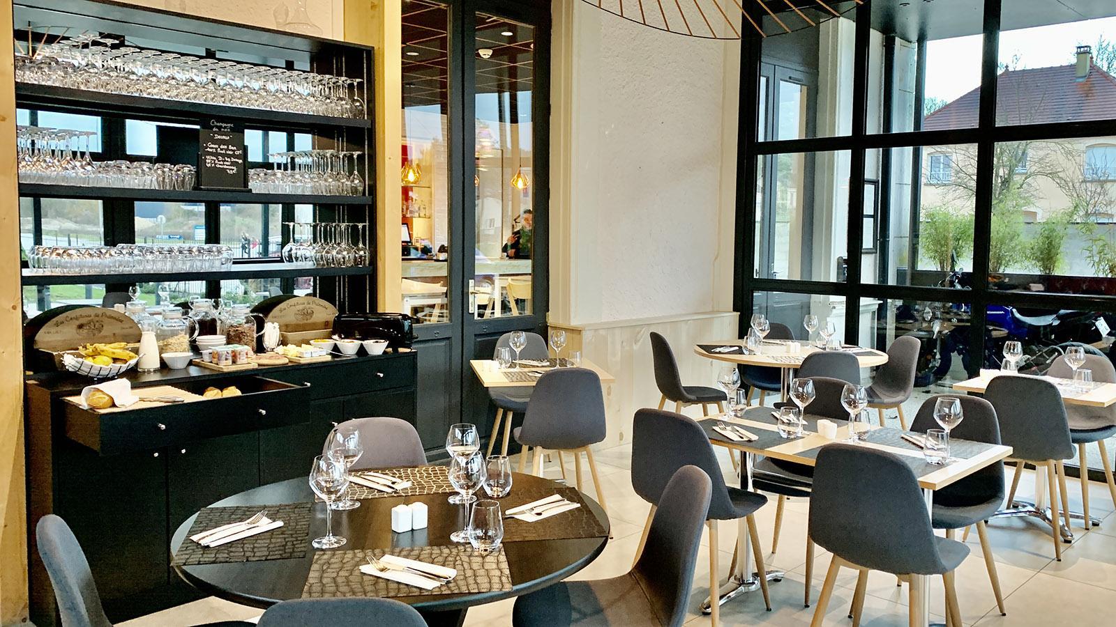 Côte des Bars: Hôtel des Tonnelles in Bar-sur-Seine. Foto: Hilke Maunder